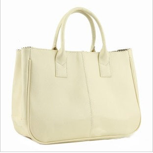 Classic Candy Color PU Leather Tote Bag