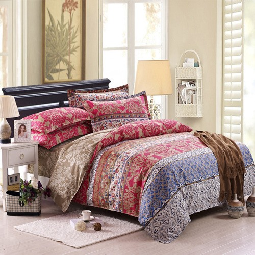 Top Range Classic Jacquard 100% Cotton 4 Piece Bedding Sets