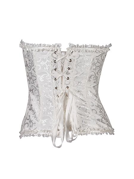 Sexy Overbust Agraffe Lace-Up Jacquard Corsets