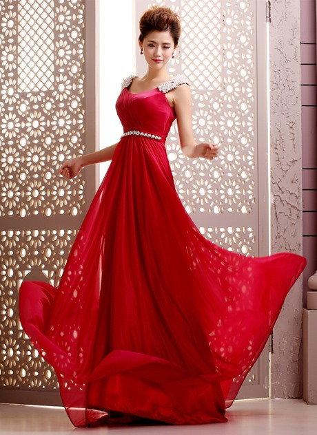 Courtlike A-Line Pearls Beading Evening Dress(Free Shipping)