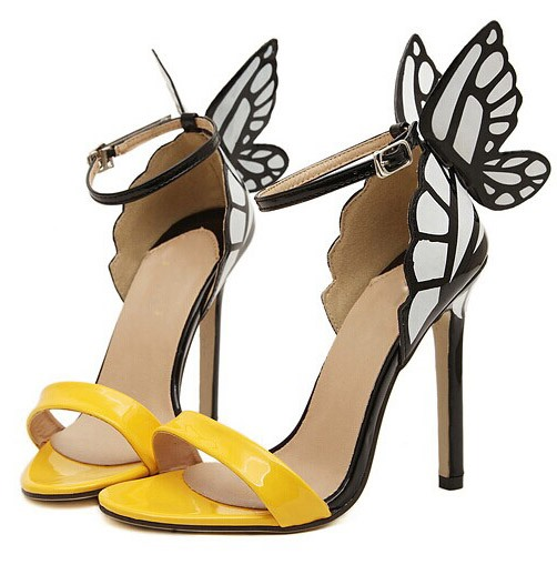 Selected Design Butterfly Slingback Heels Sandals