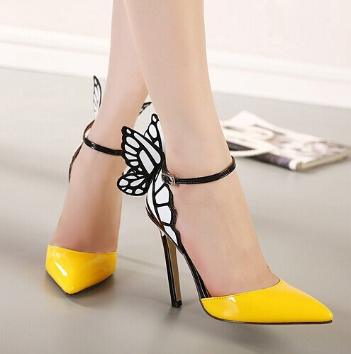 Butterfly Pointed Toe Stiletto Heel Sandals