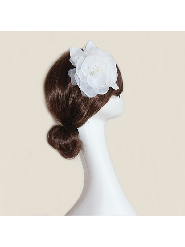 White Flower Wedding Bride HairFlower