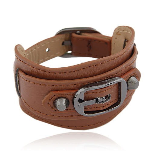 Top Class Metallic Buckles Belt Bracelet