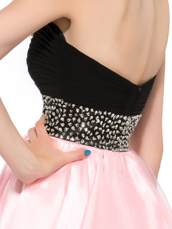 New A-Line Sweetheart Beading Short Homecoming Dress