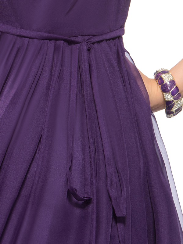 Enchanting Scoop Neck Empire Waist Beading Ruffles Short Homecoming Dress
