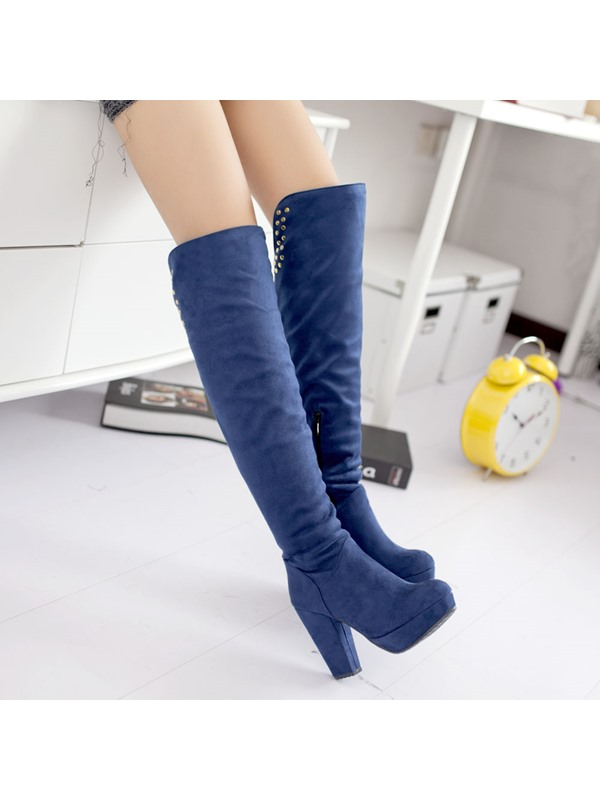 Multi Color Revit Suede Knee-High Length High Boots