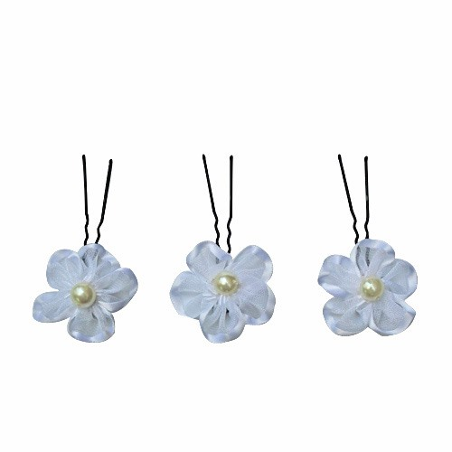 Stunning White Flower With Pearl Wedding Bride Hairpin (Including Six)