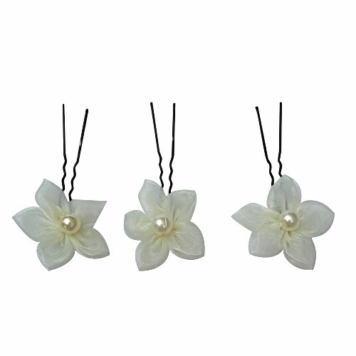 Stunning Ivory Flower With Pearl Wedding Bride Hairpin (Including Six)