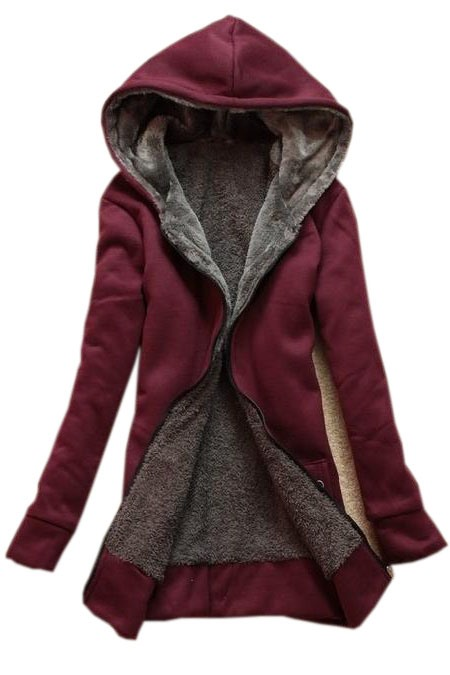 2014Autumn Lady's Leisure Thicken Hooded Long Trench Coat