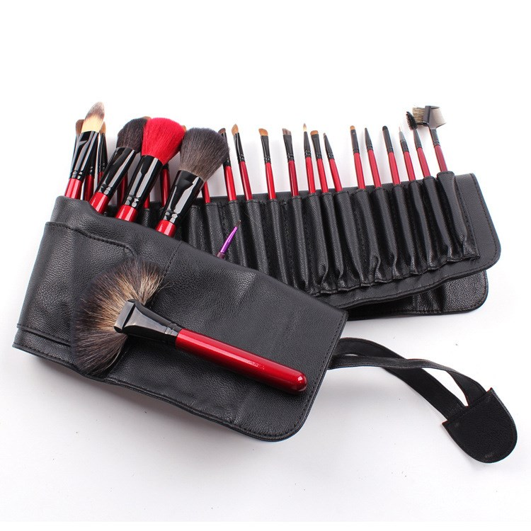 26 Pcs Professional Wolf Hair Make Up Brush Sert