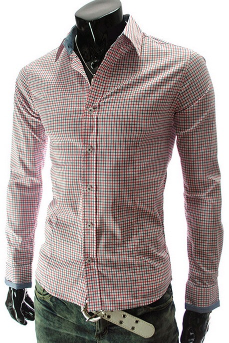 Lapel Plaid Long Sleeve Shirt