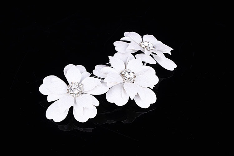 Euro-america Flowers Alloy with Rhinestone Wedding Tiara