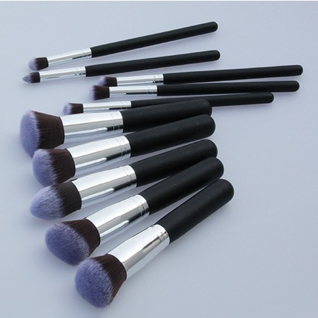 10 Pcs Nylon Fiber Cosmetic Brush Set