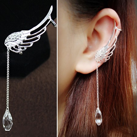 Trendy Angel's Wing with Crystal Ear Cuffs (Price For A Pair)