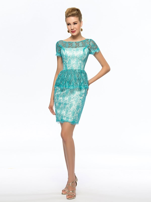 Cheap Blue Short Lace Mother of the Bride Dress Petite(Free Shipping)