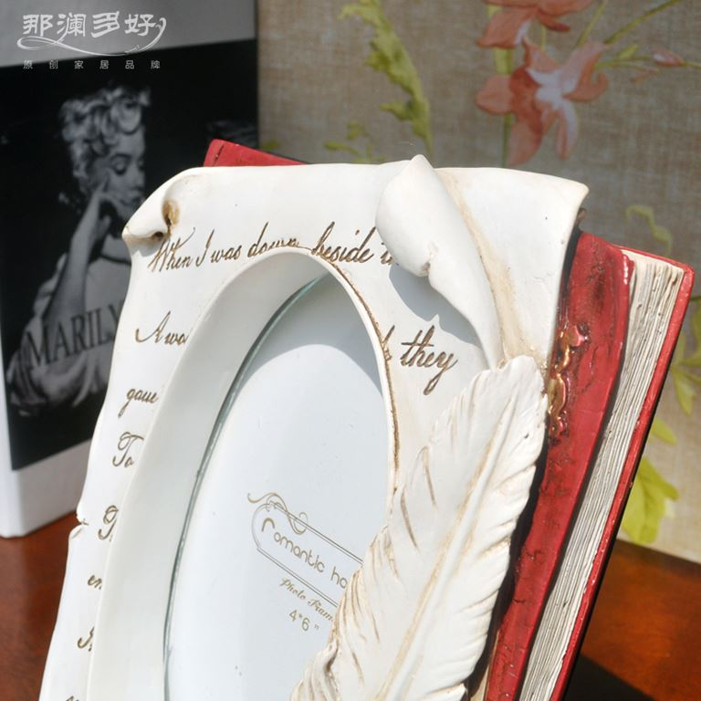 Creative Rural Vintage Nostalgia Literary 6 Inch Oval Picture Frame