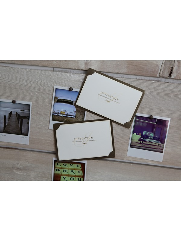 Beautiful Flat Card Invitation Cards (20 Pieces One Set)