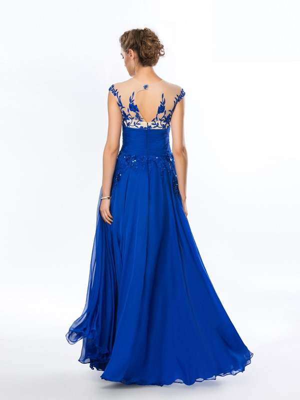 Delicate A-Line Embroidery Beading Long Evening Dress(Free Shipping)