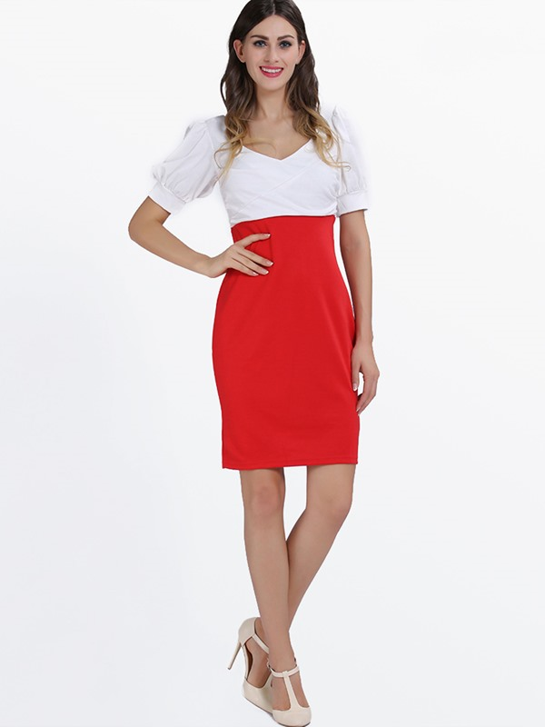 Best Quality V-Neckline Work Bodycon Dress