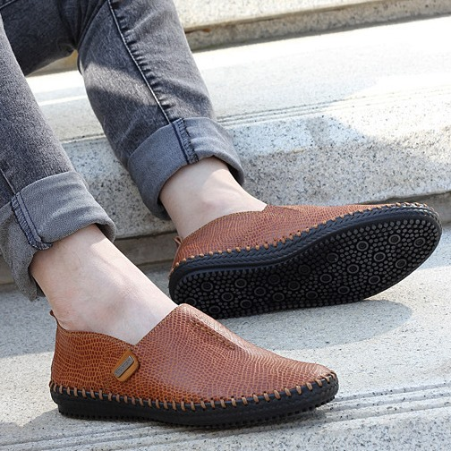 Solid Color Flat Heel Loafers