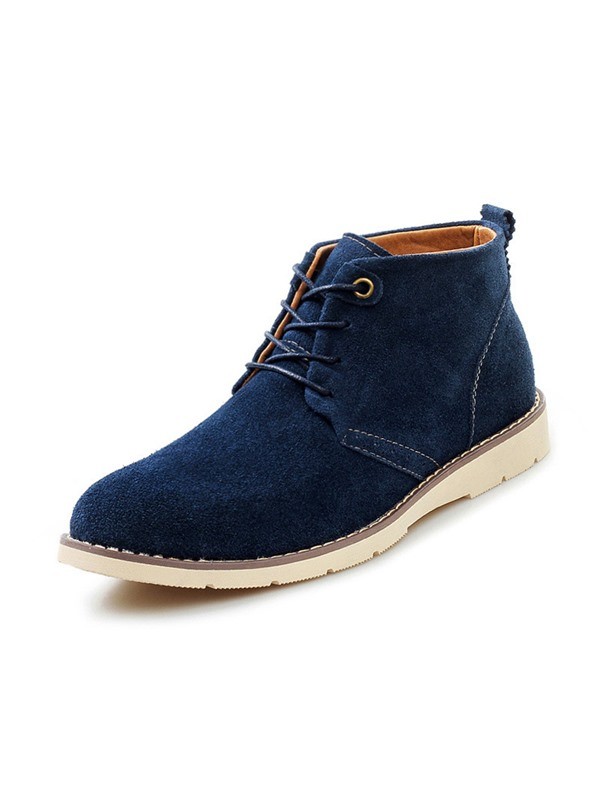 Solid Color Lace-Up Martin Boots