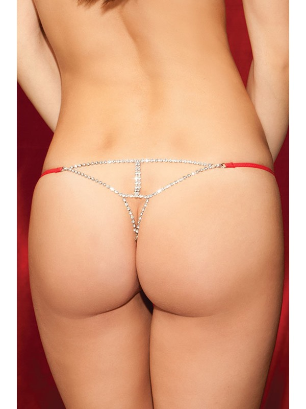 Black Bowtie Diamond G String