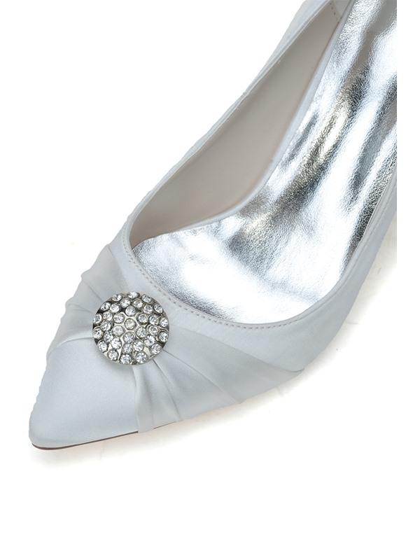Rhinestone Decorated Solid Color Pumps