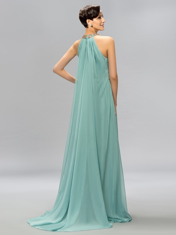 Jewel Beaded Ruffles Long Evening Dress(Free Shipping)