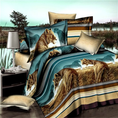 Grassland Scenery Printed 3D 4-Piece Bedding Set
