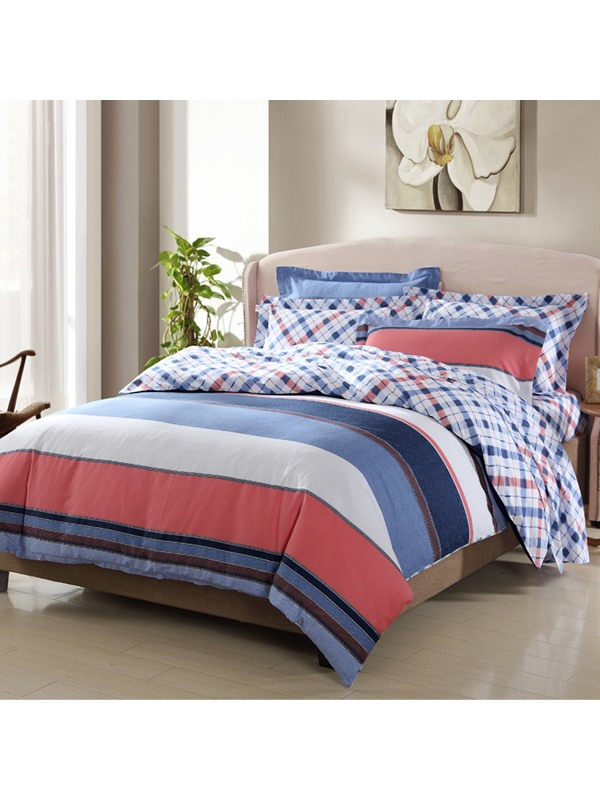 Cozy 100% Cotton 4-Piece Duvet Cover Set