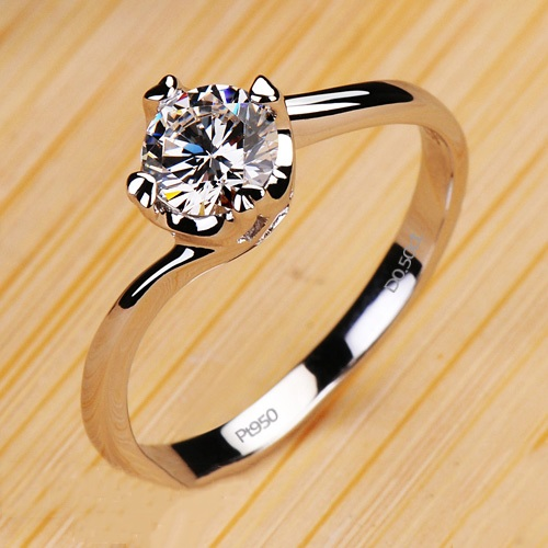 Eight Hearts & Eignt Arrows D0.5ct NSCD High Quality Wedding Ring