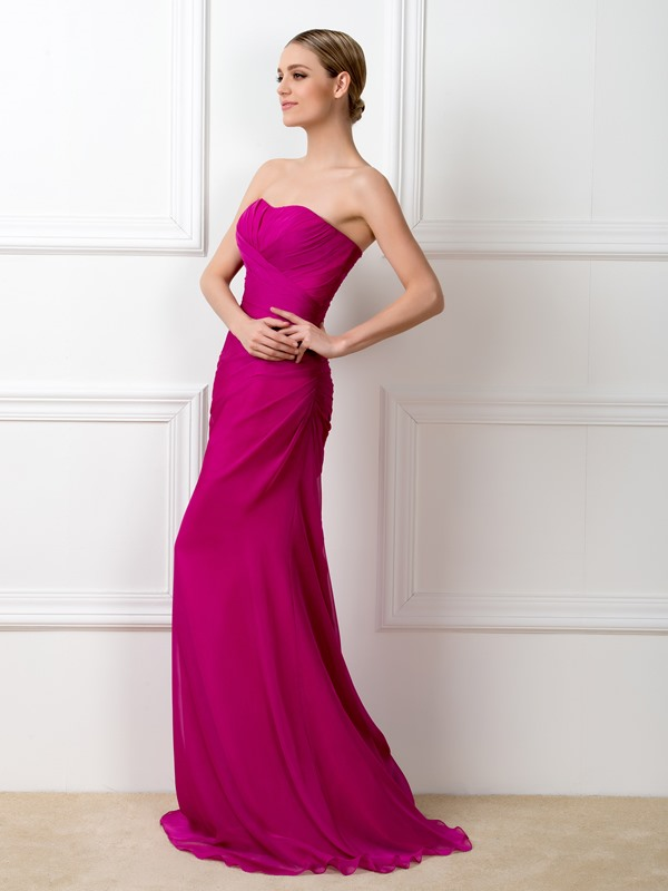 Simple Style Strapless Sweetheart Mermaid Long Bridesmaid Dress(Free Shipping)