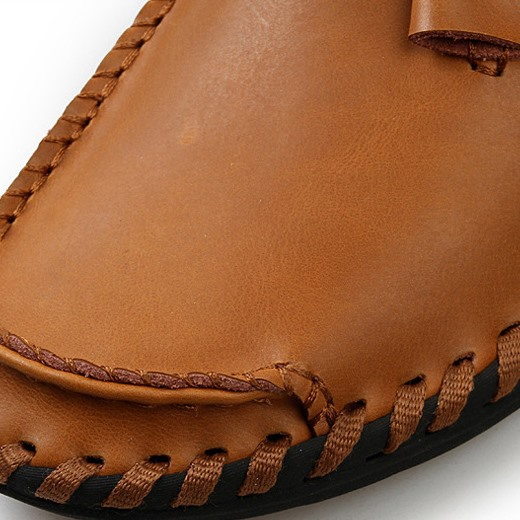 Patetn Leather Solid Color Quilted Men's Casual Shoes