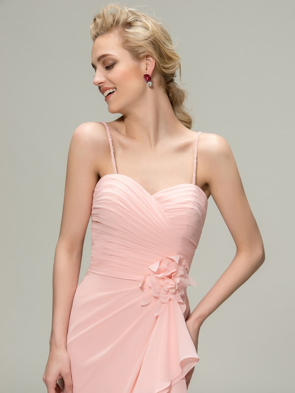 Spaghetti Straps Mermaid Bridesmaid Dress