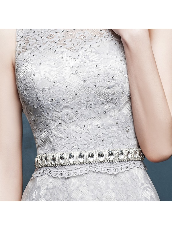 Timeless Bateau Neck A-Line Lace Beading Floor-Length Evening Dress