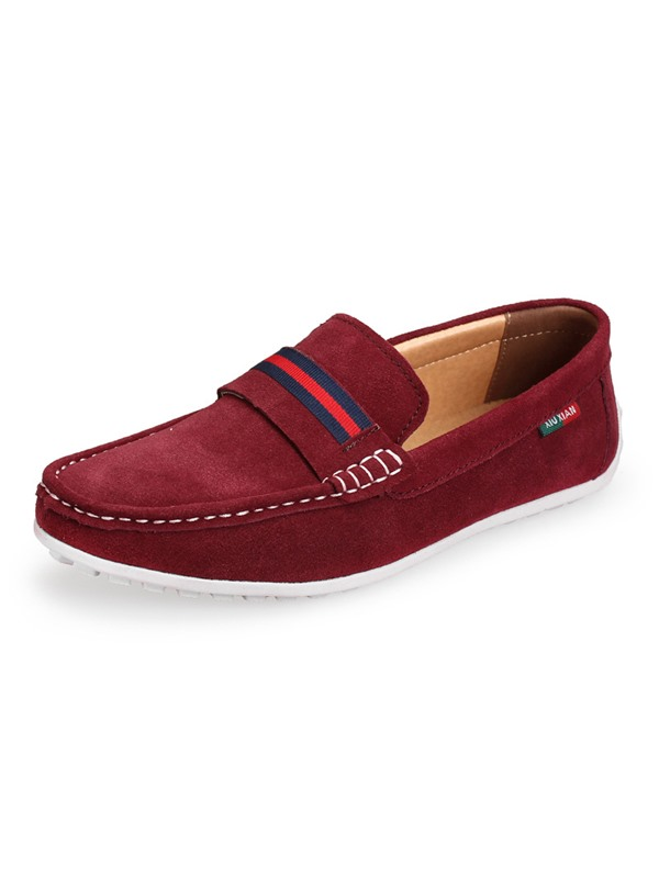 Nubuck Leather Solid Color Quilted Men's Shoes