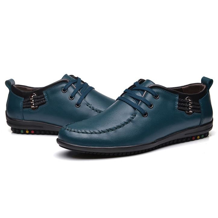 Patent Leather Solid Color Quilted Men's Casual Shoes