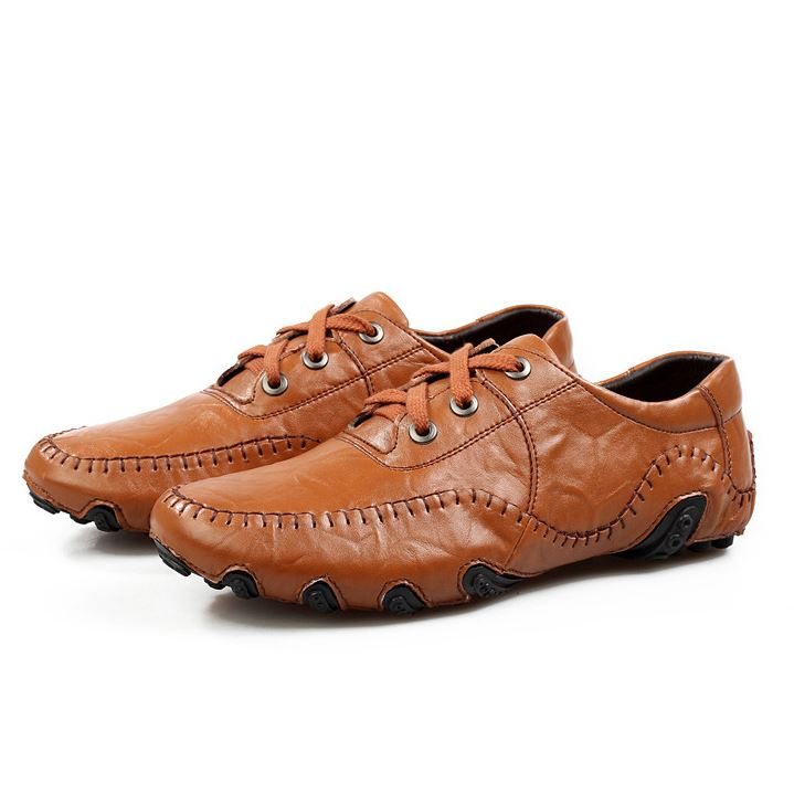 Patetn Leather Ruched Men's Shoes