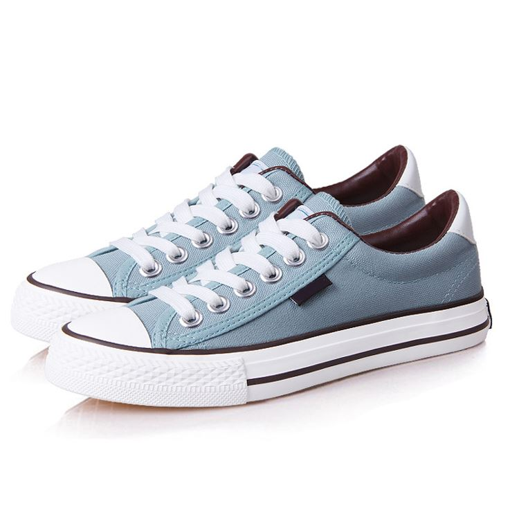 Classic Solid Color Lace-Up Canvas Shoes