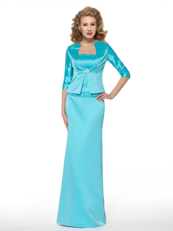 Beading Sheath Mother of the Bride Dress with Jacket