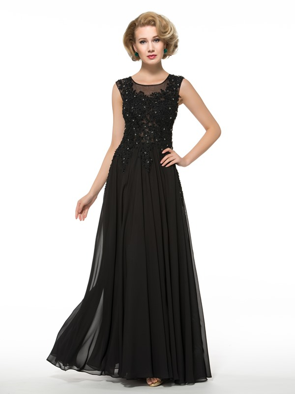 Casual Beaded Lace Floor-Length Plus Size Mother of the Bride Dress
