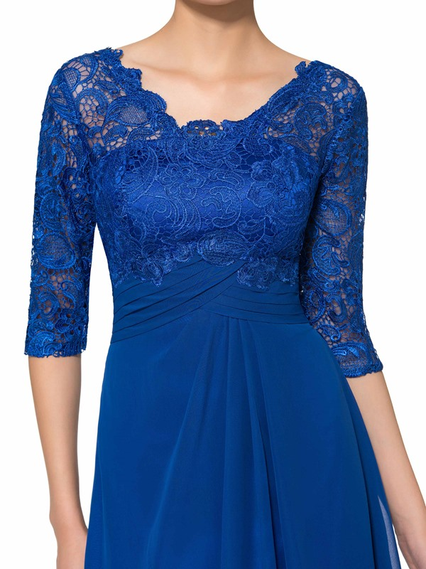 Half Sleeve Knee-Length Lace Mother of the Bride Dress