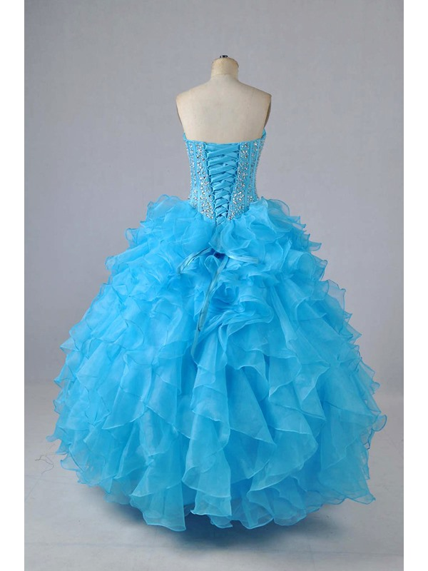 Sweetheart Ruffles Beading Quinceanera Dress