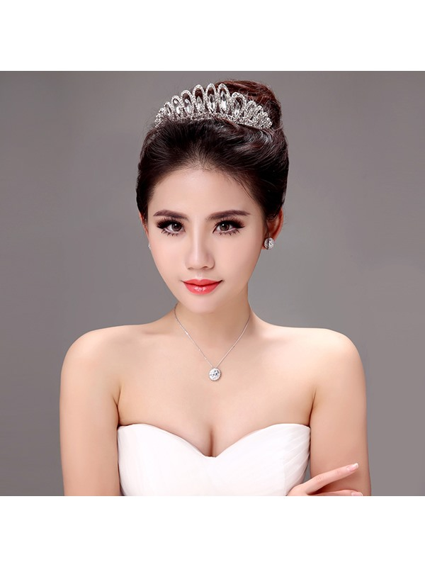 Shiny Rhinestone Alloy Wedding Tiara / Headwear
