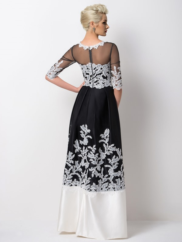 A-Line Appliques Long Evening Dress