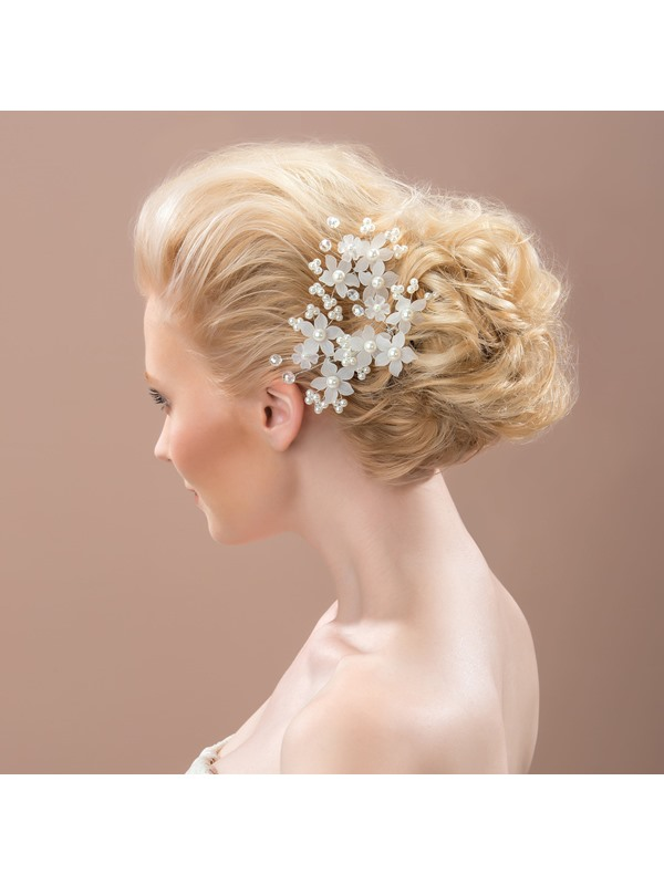 Exquisite Pearl Flowers Alloy Bridal Headpiece