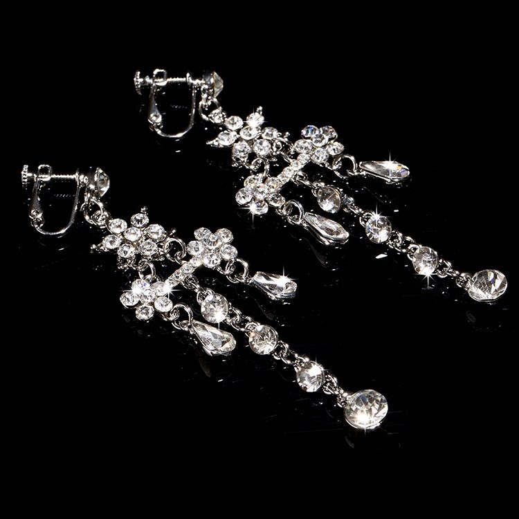 Charming Tassel Rhinestone and Alloy Wedding Jewelry Set (Including Necklace and Earrings)