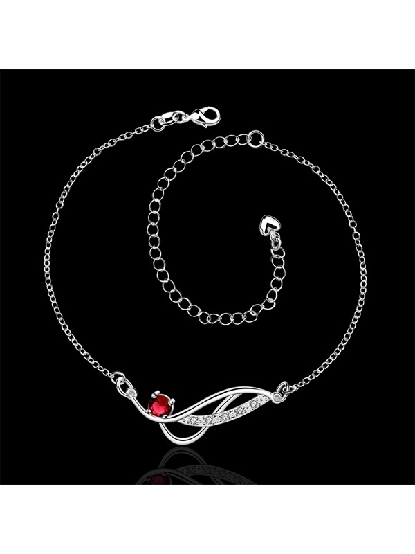 Delicate Rhinestone Decorated Women's Anklet