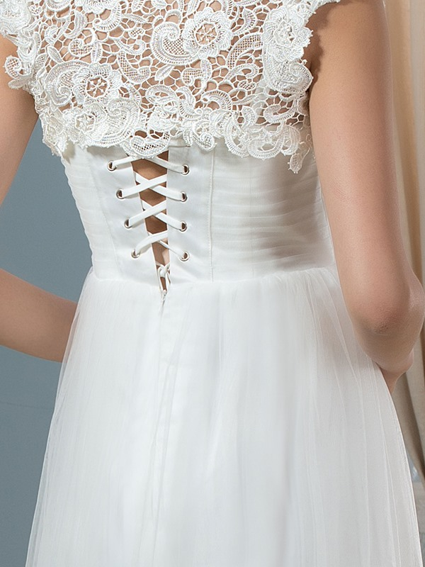 Maternity Wedding Dress with Lace Jacket